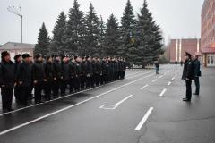Курсанти поліцейського вишу Дніпра охороняють громадський порядок на вулицях міста