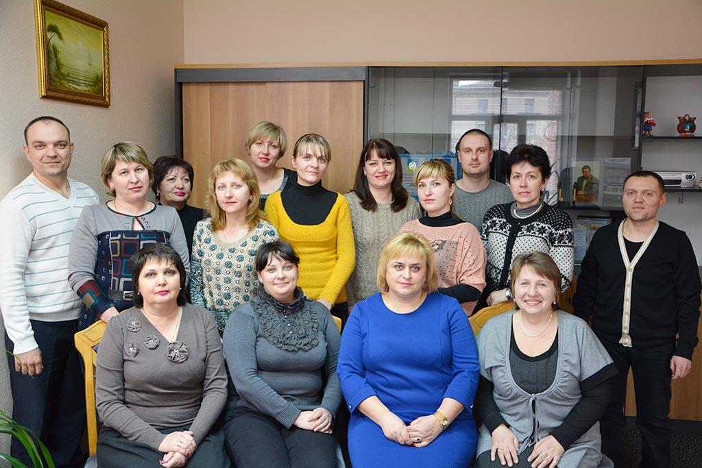 Працівники відділу фінансового забезпечення та бухгалтерського обліку. 2016 рік