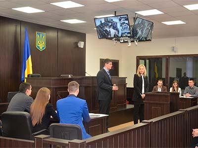 В університеті пройшло чергове модельне судове засідання