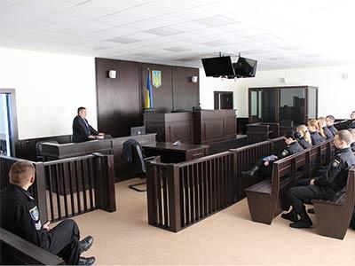 Суддя з Донеччини провів для курсантів модельне судове засідання